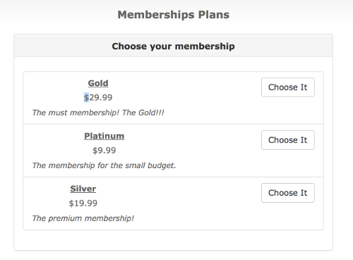Change currency sign on the membership page